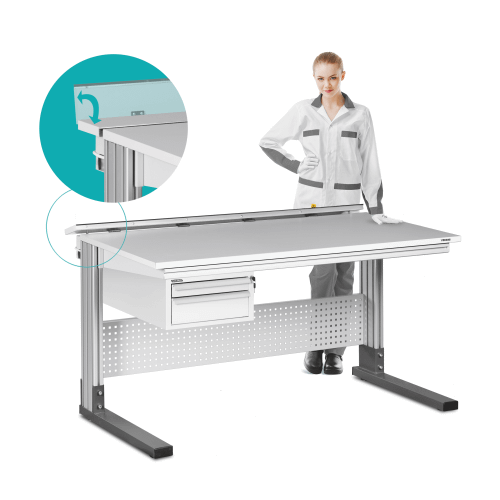 ALPHA UNIVERSAL ESD workbenches