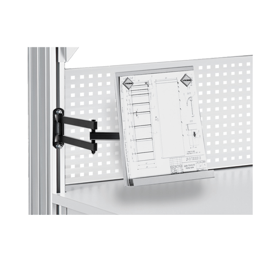 Draft holder for ESD workbenches