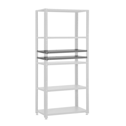 Additional shelves for standard and reinforced shelvings