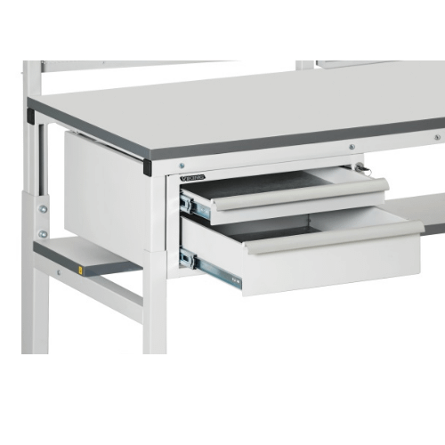 Suspended drawer units
